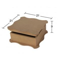 Κουτί τετράγωνο 21X21X9