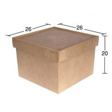 Κουτί τετράγωνο 26X26X20