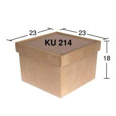 Κουτί τετράγωνο 23X23X18