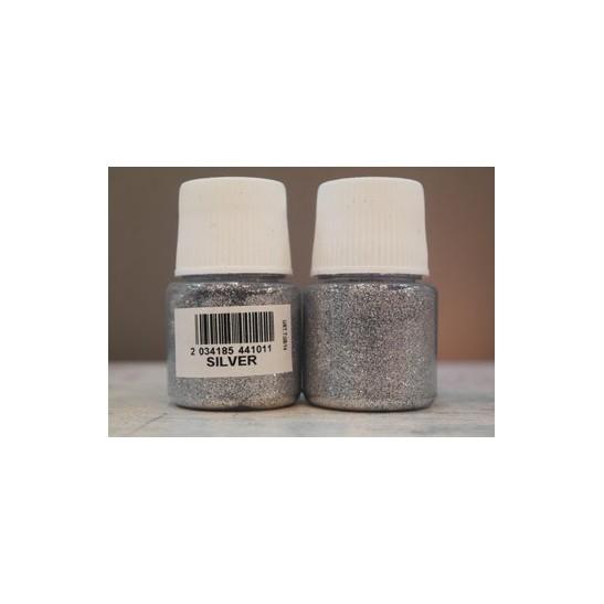 silver glitter cadence