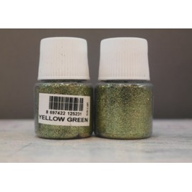 yellow-green glitter cadence