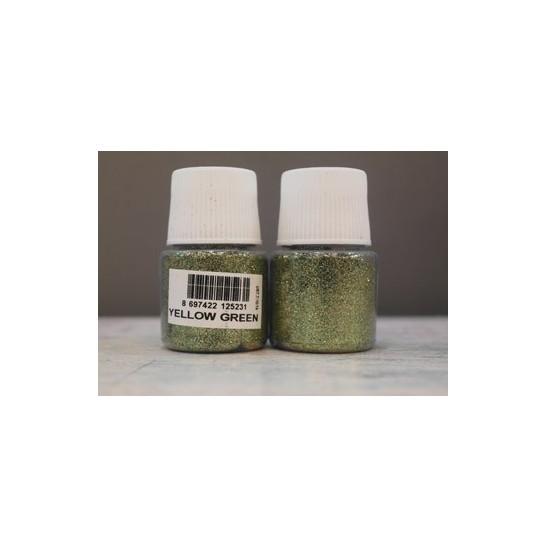 yellow-green glitter cadence