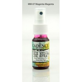 Mix media Spray ink - Magenta
