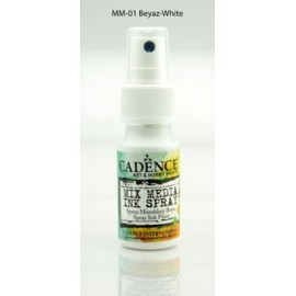 Mix media Spray ink - White