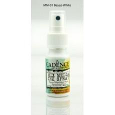 Mix media Spray ink - White 25 ml