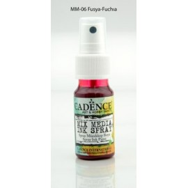 Mix media Spray ink - Fuchia