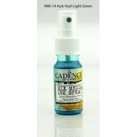 Mix media Spray ink - Light Green
