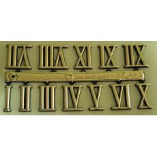 Αυτοκόλλητοι λατινικοί χρυσοί 15 mm