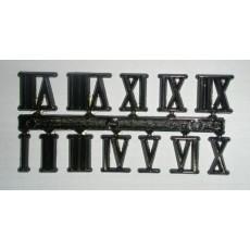 Αυτοκόλλητοι λατινικοί μαύροι 15 mm