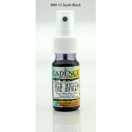 Mix media Spray ink - Black