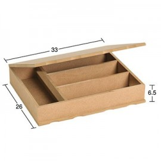 Κουτί 4 χωρίσματα 33X26X6,5