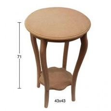 Τραπέζι στρογγυλό 43X43X71