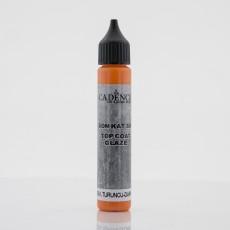 Top coat glaze dark orange