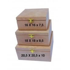 Κουτί τετράγωνο 16Χ16Χ7,5
