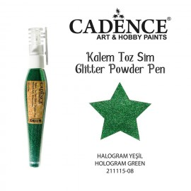 Glitter powder pen green