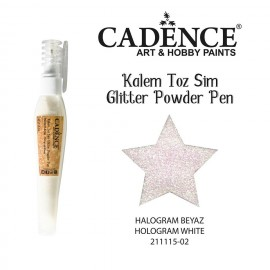 Glitter powder pen white