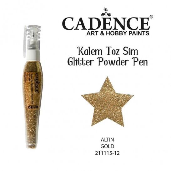 Glitter powder pen gold