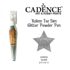 Glitter powder pen silver