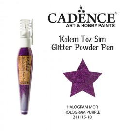 Glitter powder pen purple