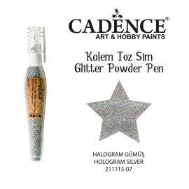Glitter powder pen hologram silver