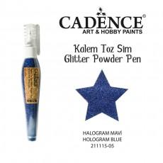 Glitter powder pen blue