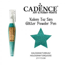 Glitter powder pen turquoise