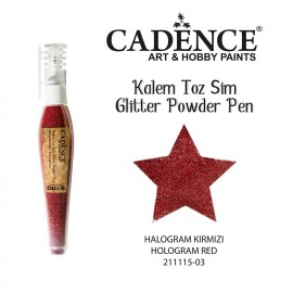 Glitter powder pen red