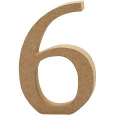 Ξύλινο Γράμμα 8cm - 6