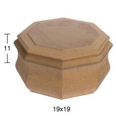 Οκτάγωνο κουτί 19Χ19Χ11