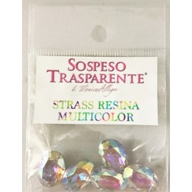 strass resin multicolor 5 τμχ