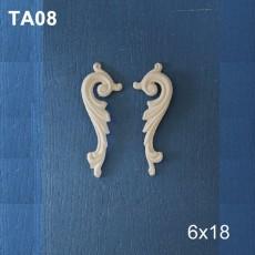 Πολυεστερικά διακοσμητικά 2 τμχ. 17,5Χ6 εκ.