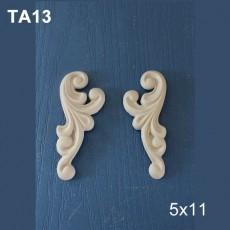 Πολυεστερικά διακοσμητικά 2 τμχ 10Χ4,5