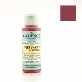 Very Chalky Glass - Coral Red