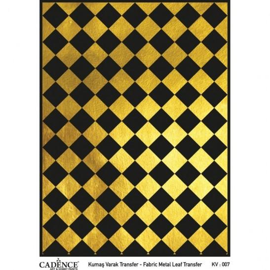Fabric metal leaf transfer 30X42