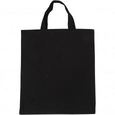 Υφασμάτινη τσάντα 38χ42 εκ. μαύρη