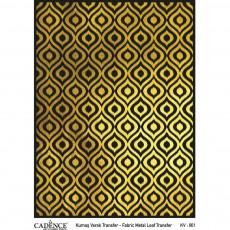 Fabric metal leaf transfer 30X42 Gold
