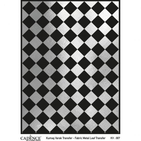 Fabric metal leaf transfer 30X42 Silver