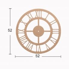 Ρολόι σκαλιστό 52 εκ.