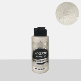 Hybrid metallic paint pearl