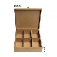 Κουτί τετράγωνο 29X29X9