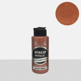 Hybrid metallic paint copper