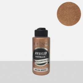 Hybrid metallic paint bronze