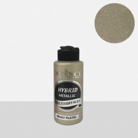 Hybrid metallic paint platinum