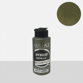 Hybrid metallic paint walnut green