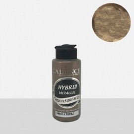 Hybrid metallic paint topaz