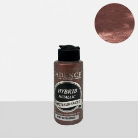 Hybrid metallic paint antique red