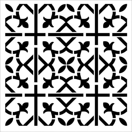 Tiles stencil 30X30 εκ