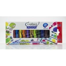 Ακρυλικά χρώματα 15 ml (12 τεμάχια)